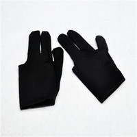 Wholesale Brand New xPcs Nylon No slip Professional Billiard Pool Gloves Fingers Shooters Gloves Black