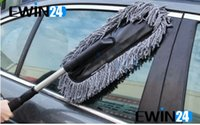 Wholesale Car Microfiber Retractable Stainless Handle Dust Brush Wax Drag Duster Cleaning Hot Sale Good Quality