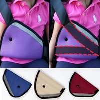 Wholesale Hot Sale Triangle Child Car Safety Belt Adjuster Wine Red Blue Beige Baby Car Safety Belt Child Resistant Safety Belt Protector Padding