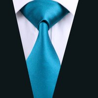 Wholesale Top Selling Teal Color Tie for Men Silk Jacquard Woven Formal Meeting Necktie cm Width D