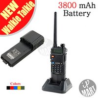 Wholesale FS BaoFeng UV R Walkie Talkie Dual Band Transceiver Mhz Mhz Radio with mAH Battery Free Earphone
