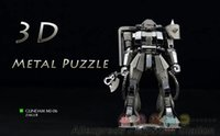 Wholesale 3D Metal Puzzles DIY Model am Zaku MS Children Adult Carton Jigsaws toys Present Gift