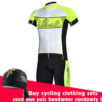 Wholesale New Cheji Iwan Fluorescence green Cycling clothing short Sleeve jersey bib shorts set Best Quality Farbic Bike Wear