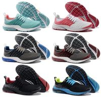 Wholesale New Air Mesh Black Red Color Presto Womens amp Mens Sports Walking Shoes Size US