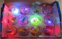 Cheap Wholesale and large crystal ball flash light elastic ball (diameter 5.5 cm) free shipping TY58