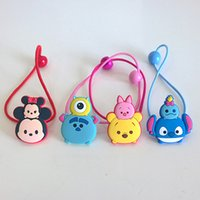 Hairbands Plastic cartoon TSUM TSUM lovely girls hairbands cartoon children Hair ring Mickey Minnie Stitch Pooh kids headdress baby girl hair accessories 201508HX