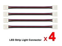 Wholesale 4 pin RGB led Strip Connector Strip to Strip Jumper for LED Strip Light Conductor to mm