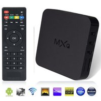 Wholesale Original Online Update MXQ TV BOX Amlogic S805 QuadCore Android4 Airplay TV Channels Programs Media Player KODI15 Rooted10