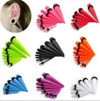 ear stretching kit - 18pcs Acrylic Ear Plug Taper Kit Gauges Expander Stretcher Stretching Piercing