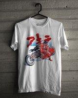 akira motorcycle - AKIRA KANEDA JAPANESE RETRO ANIME WHITE T SHIRT TEE MENS COTTOM MOTORCYCLE ADULTS T SHIRT EURO SIZE S XXXL