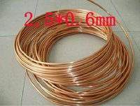 Wholesale 2 x0 mm Red Copper pipe T2 pure copper Refrigerator tube Gas pipe