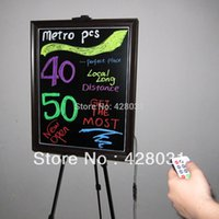 Wholesale color for choose aluminium frame x47x1 cm led writing board with color s RGB leds