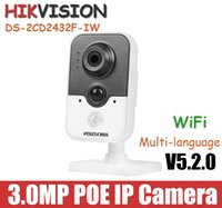 Wholesale Hikvision MP IP Camera DS CD2432F IW POE P CCTV camera Onvif support WiFi Network mini Camera with Built in microphone