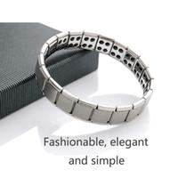 Wholesale 2015 fashion Men titanium bracelet energy bracelet Nano Energy trace elements germanium stone Magnetic health jewelry