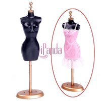 Wholesale 1 Set Doll Clothes Gown Dress Mannequin Display Stand for Barbie Girl Gift DRES