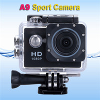 Wholesale Waterproof Sport Camera P Full HD MP Diving m Wide Angle Mini Cam Camcorder Action Video Recorder A9 for Gopro Style