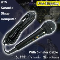 professional karaoke system - mm Black Professional Wired Dynamic Microphone System Mic Mike For KTV Karaoke Computer Stage Microfone With Meter Cable