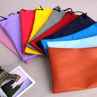 Wholesale 100pcs hot waterproof sunglasses pouch soft eyeglasses bag glasses case many colors cm