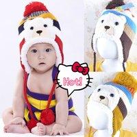 winter animal hat - New Cute Fashion Warm Cap Winter Animal Hats For Baby Earflaps Velvet Thickening Crochet Knitted Boy Girl Beanie Children Hat