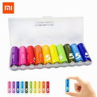 Wholesale Newest Xiaomi ZI5 AA Battery Rainbow AA Batteries Multicolor A Maxell Core For Toys Remote Watch With Storage Box