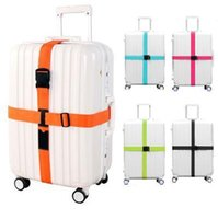 Wholesale HW11 PP material colors m length POM buckle baggage strap belt way suitcase luggage strap crossed Travel luggage strap