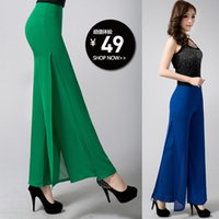 Cheap 2015 new fashion Womens Career Slim High Waist Flare Wide Leg Long Pants Palazzo Trousers plus size S-6XLfree shipping