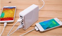 Wholesale 6 Port USB travel Wall Charger HUB AC Power Adapter Universal for iphone ipad galaxy note Freeshipping