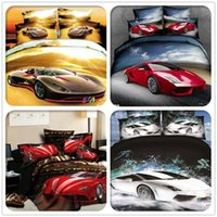Wholesale cartoon bed sets very lovely bed set d car pattern bedding set king queen size duvet duvet cover bed sheet comforter