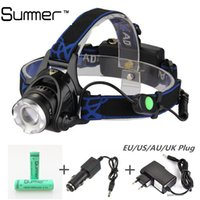able cars - Lm T6 LED head lamp zoom stretch able HeadLamp Rechargeable multifunction headlight batteries car charger AC charger