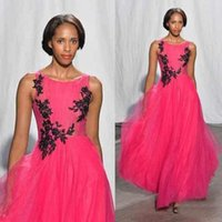 Cheap Hottest Collection Sleeveless Tulle Long Prom Gowns Ruched Full-length Appliques Fashion Girls Stylish Skirt Evening Party Gowns Cheap