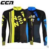 Wholesale high quality CCN pro Team Cycling Shirts Tops High Elastic Long sleeve Cycling Suit Breathable Road Bicycle Clothes Roupa maillot Ciclismo