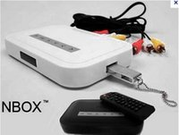Wholesale NBOX HD TV SD MMC Card Flash Hard Drive Disk Media Player Video player with remote control