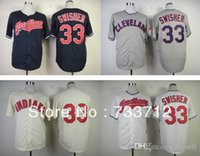 american nick - 2015 New New Top quality Cleveland Indians Jerseys Nick Swisher American navy blue white cream gray mens