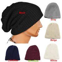 Precio de Cráneo del sombrero del esquí-Nuevas Unisex Hombres Mujeres Beanie cráneo de esquí de gran tamaño gorra de invierno que hace punto caliente PX174 Lana Envío Gratis