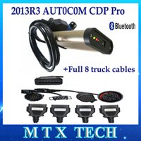 Cheap Newest Truck diagnostic tool TCS CDP Pro For  OBD2 Auto Partner 2013R3 keygen+Bluetooth+Full set 8 truck cables