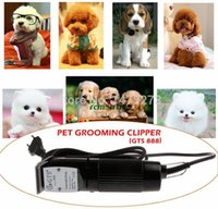 animal grooming products - Ship In Hours Quality W Professional Pet Dog Hair Electric Trimmer Grooming Clipper Animal Hair Scissors GTS888 Comb Kits