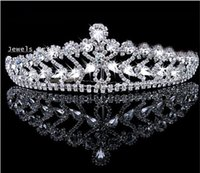 Cheap Hair Accessories Shining Wedding Bridal Crystal Veil Tiara Crown Headband Crown Wedding For Party 2015 May Style