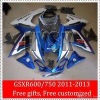 Precio de Suzuki gsxr750 fairing-Carenado plástico ABS Kits De 2011 2012 2013 Suzuki GSXR600 GSXR750 K10 oscuro Azul Blanco 11 12 13 GSX-R600 GSX-R750 GSXR 600 GSXR 750