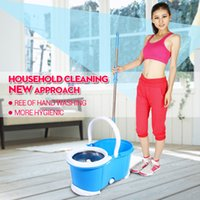 Cheap Cheap portable stainless pole quality hand press 360 degree spin easy magic mop for floor cleaning rotating mop jj-tb-010