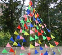 Wholesale 75M140flags Ropes Wedding Bunting Triangle Flag Decoration Christmas Festival Supplies Married String Flags Decor