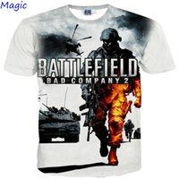 battlefield company - w1209 Magic New Fashion D t shirt short Sleeve print game Battlefield Bad Company Funny Casual t shirt Men t shirts G1026