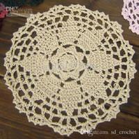 Wholesale cotton hand made Crochet Doily cup mat vase mat appliques x16CM zp029