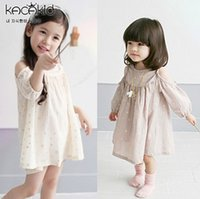One-piece baby jumper - 2016 NEW baby girl kids infant toddler Summer Clothing Clothes Hollow Out shoulder Cute dress Star sequins Jumper Jumpsuits One piece