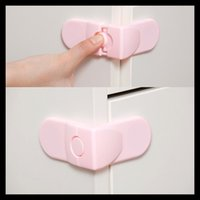 Wholesale New Hot Sale Set Baby Child Kids Drawer Cabinet Lock Rectangular Safety Lock Drop Shipping BB