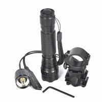 bicycle guns - Lumen Bicycle Bike Light linterna Led XM L T6 WF B Lanterna LED Flashlight Torch Lamp Mount Light Rifle Gun Rail Wrench