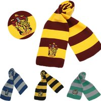 Wholesale 160cm cm Harry Potter Scarves Ravenclaw Movie Fans Favorite Slytherin scarf School Striped Gryffindor scarf