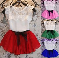 baby apparel boutique - HOT Fashion princess summer short sleeved lace flower girl dress dance apparel clothing children s clothes boutique baby Dresses