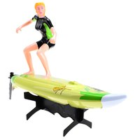 Wholesale Great Wall G CH High Speed RC Surf Boat Surfer Surfboard Remote Control Toy Blue Green RC Toys Kids Toys