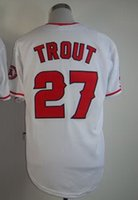 Wholesale 2015 Mike Trout White Cool Base Stitched Jersey Baseball Wear Discount Baseball Jerseys