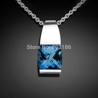 aquamarine birthstone jewelry - Navy necklace Monday Aquamarine Birthstone Necklaces Charms Romantic silver wedding eco friendly jewelry